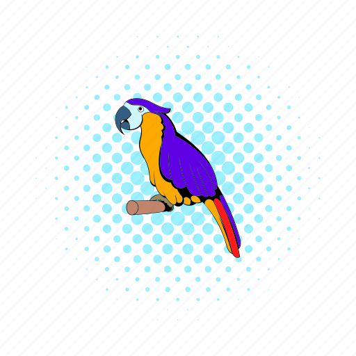 animal, beak, bird, comics, exotic, living pictogram, parrot icon