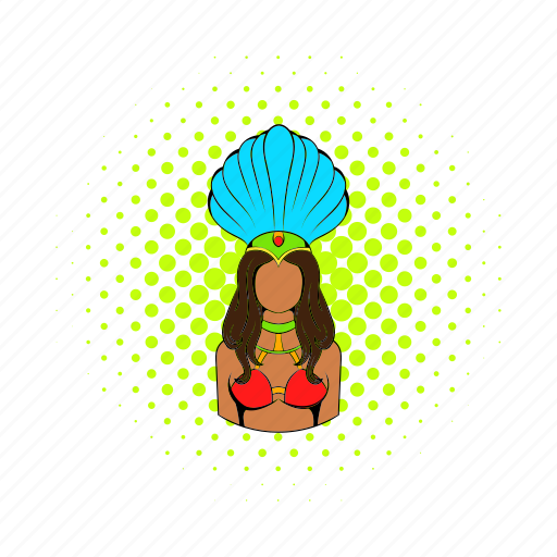 brazilian, comics, costume, dancer, girl, rio, samba icon