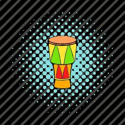atabaque, brazilian, comics, drum, instrument, music, musical icon