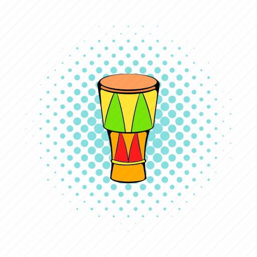 atabaque, brazilian, comics, drum, instrument, music, musical icon