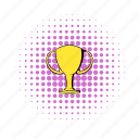 achievement, comics, cup, gold, success, trophy, victory icon