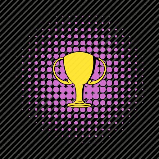 achievement, comics, cup, gold, success, trophy, victory icon