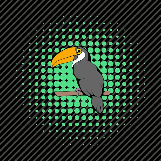 bird, colorful, comics, exotic, nature, toucan, tropical icon