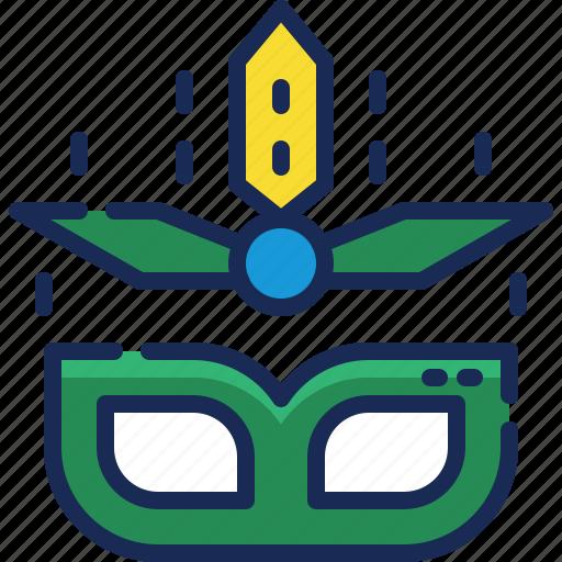 brazil, carnival, costume, festival, mask, parade, party icon