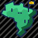 world, flag, nation, brazil, country, map, pointer