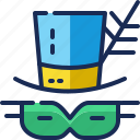 brazil, cap, costume, hat, mask, parade, party icon