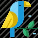 animal, bird, brazil, carnival, parrot, wild icon