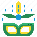 brazil, carnival, costume, festival, mask, parade, party icon