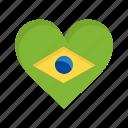 brazil, brazilian, carnival, celebration, flag, heart, love icon