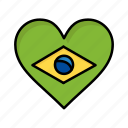 brazil, brazilian, carnival, celebration, flag, heart, love