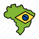 brazil, brazilian, carnival, celebration, flag, map