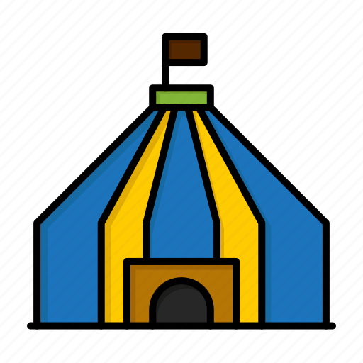 brazil, brazilian, carnival, celebration, circus, tant, tent icon
