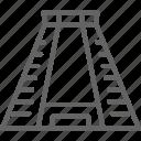 brazil, chichen, itza, line, mayan, monument, pyramid icon