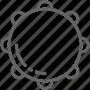 brazil, instrument, line, music, tambourine, timbrel icon