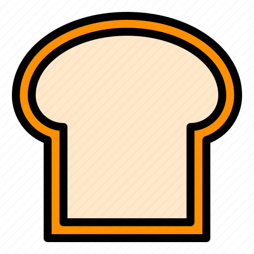 bakery, bread, bread slice, food, staple food, sweets icon