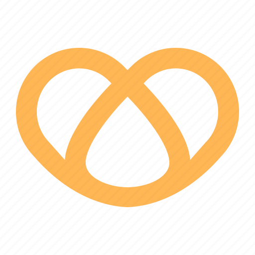 baked, bakery, bread, dough, pretzel, sweets, twisted icon