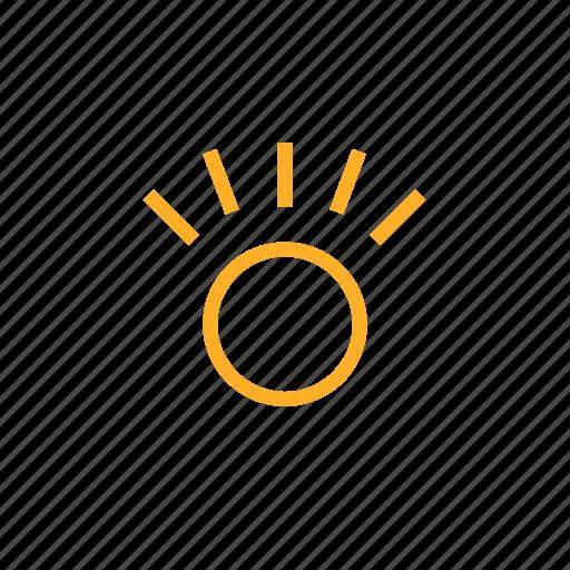 idea, illumination, morning, shine, sun, sunrise icon