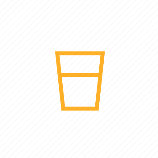 glass, half, juice, measure, milk, water icon