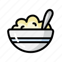 breakfast, cereal, cooking, eat, food, restaurant, vegetable icon
