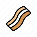bacon, breakfast, food, fried, meat, pork icon