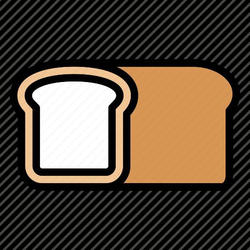 bakery, bread, bread loaf, bread roll, breakfast, food, fresh icon
