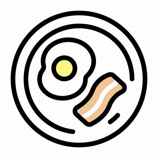 breakfast, egg, food, meal, morning, plate icon