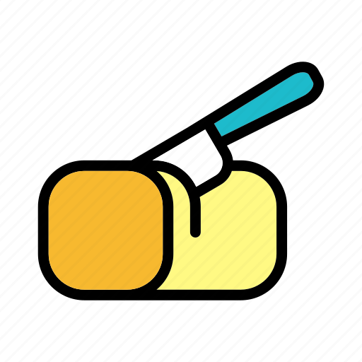 butter, cheese, creamy, ingredient, knife, spread icon