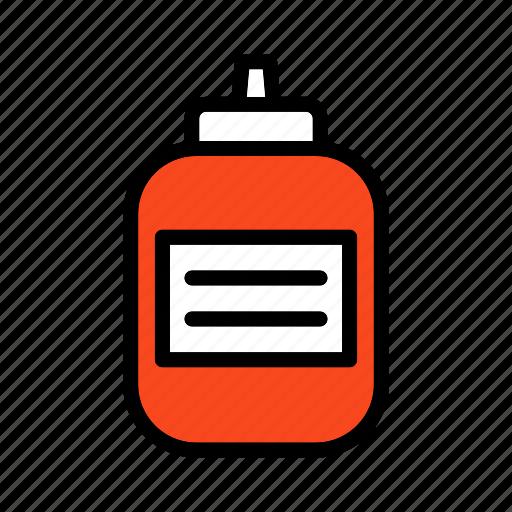bottle, ingredient, ketchup, mayonnaise, sauce, tomato icon