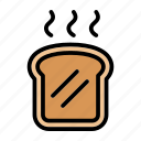bread, breakfast, food, meal, toast, toasted bread icon