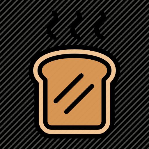 bread, breakfast, food, meal, toast, toasted bread icon