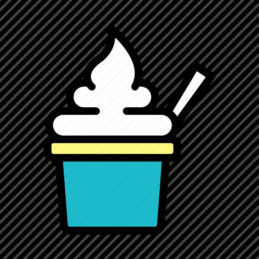 food, fresh, healthy, milk, yoghurt icon