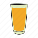 breakfast, drink, food, glass, orange, orange juice icon