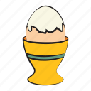 boiled egg, boiled egg holder, breakfast, egg, food icon