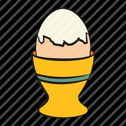 boiled egg, boiled egg holder, breakfast, egg, food icon