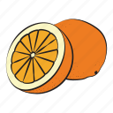 breakfast, food, fruit, healthy, orange icon