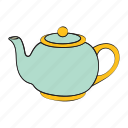 breakfast, drink, kettle, tea, tea kettle icon