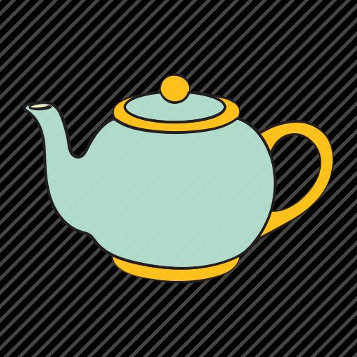 breakfast, drink, kettle, tea, tea kettle icon