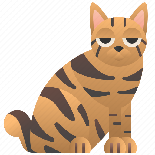 American, bobtail, cat, purebred, strip icon - Download on Iconfinder
