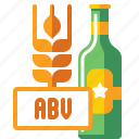 abv, alcohol, brewery, by, volume icon