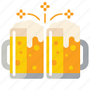 brewery, clinking, glasses icon