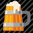 brewery, mug, wooden icon