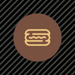 fast food, hot dog, hotdog, lunch, mustard, sauce, sausage icon