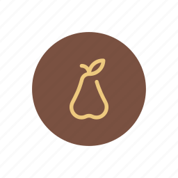 agriculture, farming, food, fruit, natural, organic, pear icon