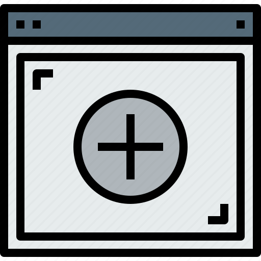 add, browser, web, website icon