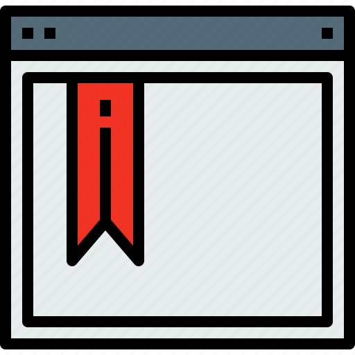 bookmark, browser, web, website icon