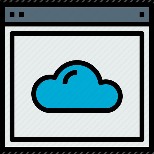browser, cloud, web, website icon