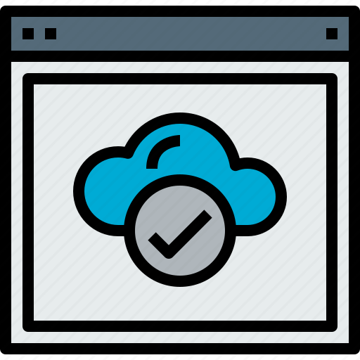 browser, check, cloud, web, website icon