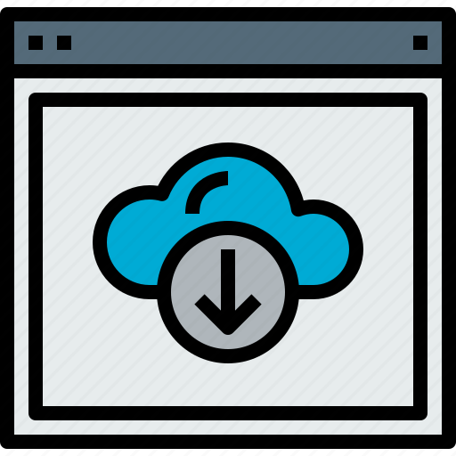 browser, cloud, download, web, website icon