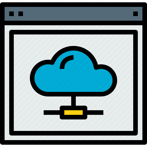 browser, cloud, network, web, website icon