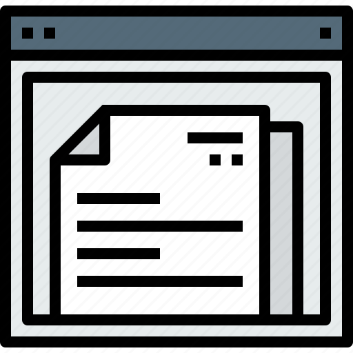 browser, document, web, website icon